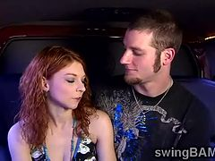 Redhead beauty and husband join XXX reality of swinger couples