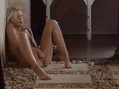 Blonde pussy tease in her new flat -- on February 2014