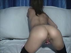 Hairy girl masturbate with toy real webcam