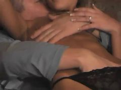 Blonde hottie fucked twice in the basment