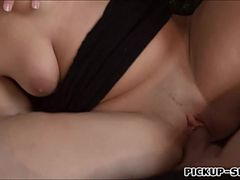 Czech girl Terra Sweet flashes boobs and banged for money
