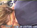 Hot teen surfer girl gives a hot a blowjob